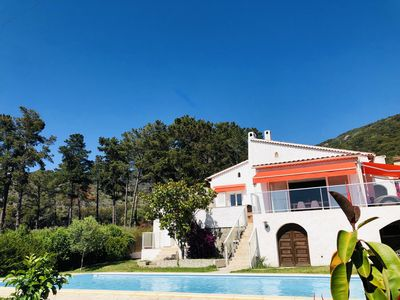 Photo for Charming 2 bedroom villa with magnificent sea view and pool, Sagone Corsica