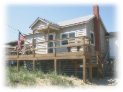 Photo for Semi oceanfront house, pet friendly with a hot tub. Perfect couples getaway!