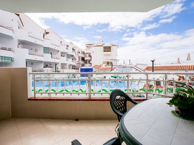 Photo for Los Cristianos -WIFI- 2 bed 2 bathroom  Split Level Apt-- Ground Floor Poolside