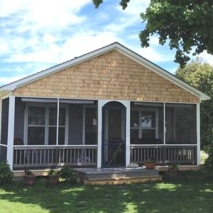 Photo for Vintage Quiet Sunny Lakefront Cottage With Fabulous Sunsets, Walking And Biking
