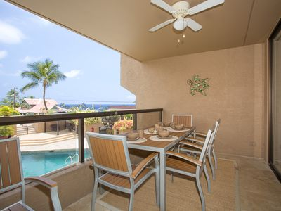 Photo for Stunning Condo with Lanai Dining, Walking Distance to Small Beach (WiFi Included)