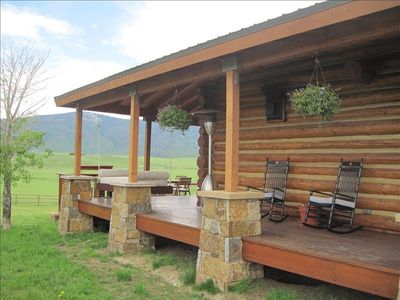 Covered Front Porch to rock in chairs and contemplate your next activity
