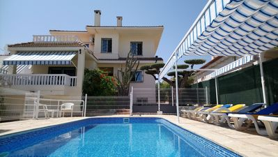 Photo for VILLA 200 MTS FROM THE SANDY BEACH +  5 BEDROOMS ( WITH AIR C. ) + PRIVATE POOL