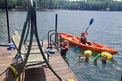 Swim, fish, or play all day right off our dock!