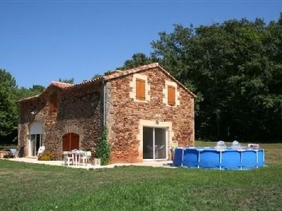 Photo for Superb restored barn, isolated in the heart of a clearing with swimming pool