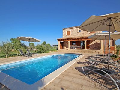 Photo for Finca S'Hort den Vadell - AirConditioner - Wi·Fi - - Country house for 8 people in Campos