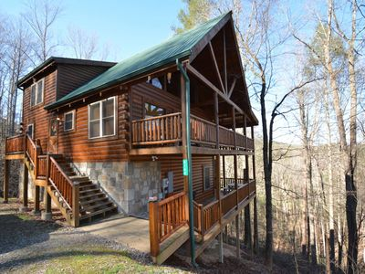 Photo for Hidden Haven ~ Perfect Family Retreat, Hot Tub, Game Room, WiFi, Gas Fireplace, Wears Valley