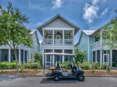 Photo for Spacious 5 BR w/ 3 Kings, Electric Cart + 6 Bikes Directly Beside Dragonfly Pool