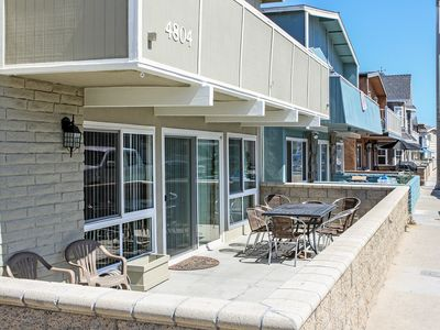 Photo for Renovated Lower Beach Condo with Patio, BBQ! 1 House from the Ocean!