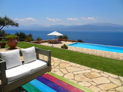 Photo for Unique Location, Swimming pool, Garden, Amazing panoramic sea view, Near beach