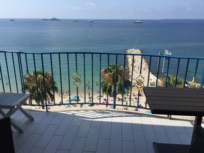 Photo for Juan les Pins. Facing Sea Exceptional location 4pers