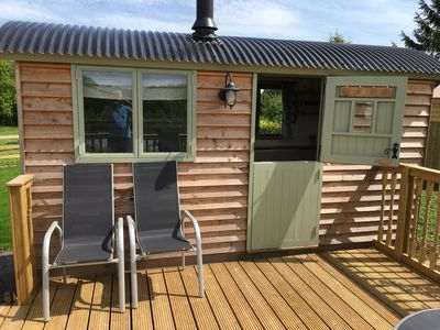 Photo for Shepherds Hut with Hot Tub in stunning rural location