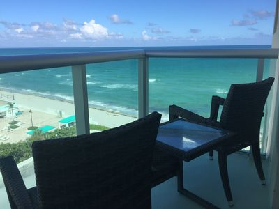 Photo for RIGHT ON THE BEACH-Direct Oceanview Luxury 2 Bed/2Bath Condo in the Tides Resort