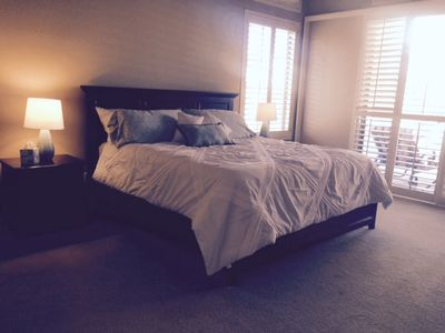 Master Suite King with access to patio and pool
