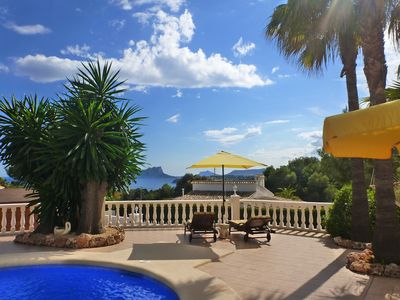 Photo for Villa with stunning seas views in El Portet Moraira close to town and beach