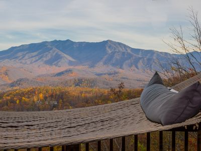 Photo for GATLINBURG LOG CABIN  SPECTACULAR VIEWS  HOT TUB WIFI NETFLIX NEAR  DOLLYWOOD