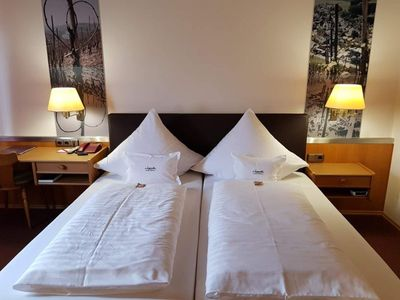 Photo for Triple room Bach side with shower / WC - Weinhotel Klostermühle