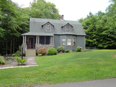 """Photo for Relax in the """"Greenwoods"""" large secluded yard in Eagles Mere."""
