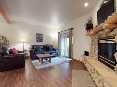 Photo for NEW LISTING! Downtown condo w/mountain view, deck & shared hot tub-walk anywhere