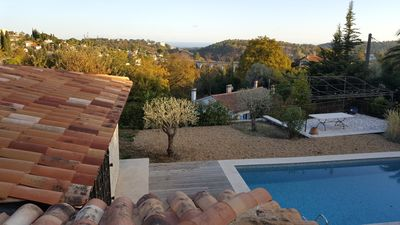 Photo for in Vence. Neo-Provencal Villa, Sea View - Pool