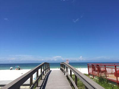 Photo for Steps from beutiful Sunset Beach, Treasure Island!  Relax in the sand or pool!