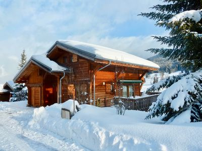 Photo for Charming wooden chalet close to ski slopes 'La Princesse' in Megeve area