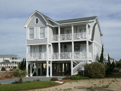 Photo for Great ocean & waterway views, community oceanfront pool and cabana!