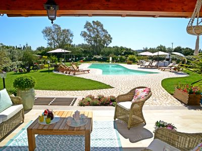 Photo for Alghero Villa 2 km from the sea. Air conditioning WiFi - Games - Barbecue 5 bathrooms