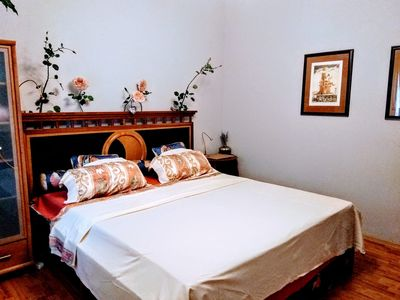 Double room with private bedroom and toilet on the ground floor