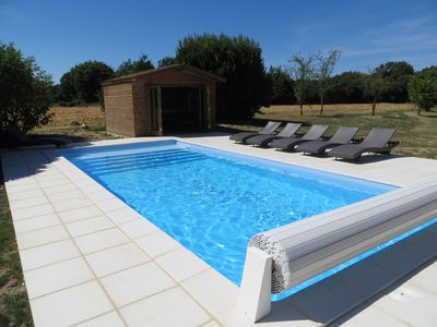 Photo for Loire valley gite with 2 acres of grounds, south facing pool & private terraces
