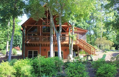 Photo for Awesome Lakefront Log Cabin with Covered Dock ~ Near Clemson