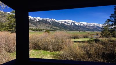 Teton Mountain and Snake River Ranch view from  private deck