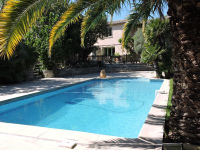 Photo for Charming house, large swimming pool landscaped garden, sunny, quiet, near beaches