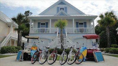 Photo for 5 BR/4.75 BA Beach Home/Golf Carts/Gameroom/Pools/6 Bikes  SPRING BREAK 2300/WE