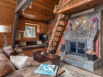 Photo for Charming A-frame with a hot tub, 2 decks & a great location!
