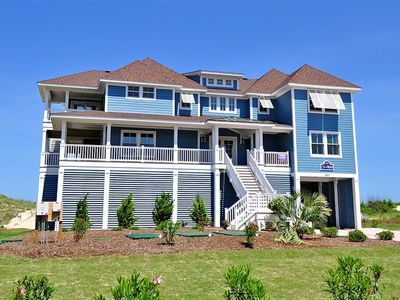 Photo for Pop Of Heaven-10 Bedrooms (9 Masters) *Oceanfront* Whalehead In Corolla