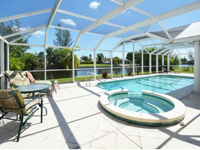Photo for 3BR Waterfront Haven w/ Private Pool, Spa & Dock