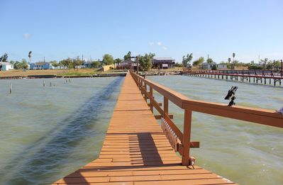 Private lighted fishing pier