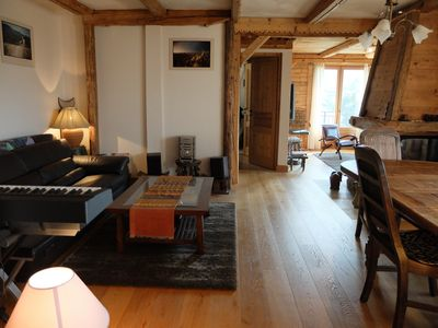 Photo for Beautiful duplex apartment in the heart of Saint-Gervais