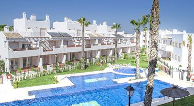Photo for New build fully equipped 2 bed apartment with amazing pool and gardens.
