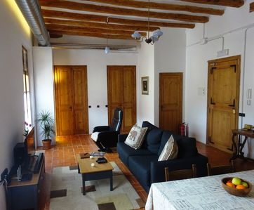 Photo for Spacious newly renovated apartment in beautiful hilltop wine village