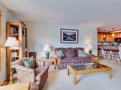 Photo for Condo with shared hot tubs, pool, and sauna & great mountain views!
