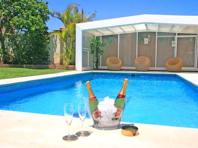 Photo for Spectacular Villa to 300 m. from the beach with heated pool