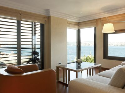 Photo for 180 Degree Bosphorus View Apt with Balconies