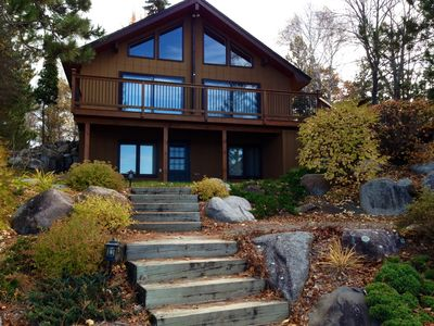Photo for Lakeside cabin, beautiful views, steps from the water on the Whitefish Chain