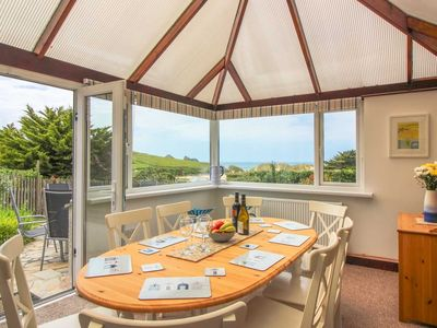 Photo for On Cornwall's spectacular Atlantic Coast, Ocean View is a great 4 bedroom beach house