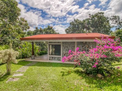 Photo for Charming, ground-floor cabins with beautiful garden views and shared pool.