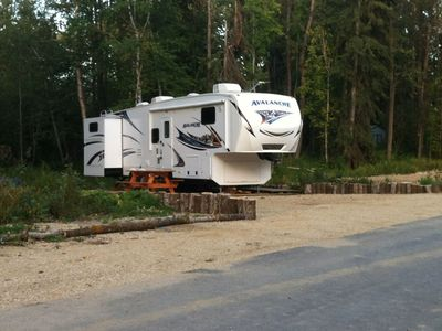 Photo for 39' RV on picturesque spot at Gull Lake, Private Resort, All Amenities, $200/N.