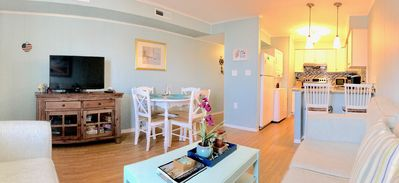 Photo for Perfect Ocean & Bay Condo w/ Rooftop Seating and Pool for the family!