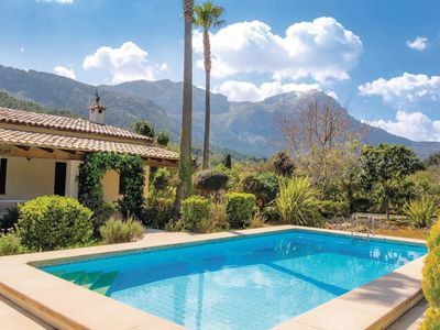 Photo for Countryside villa w/mountain views, close to historic Polensa + beaches